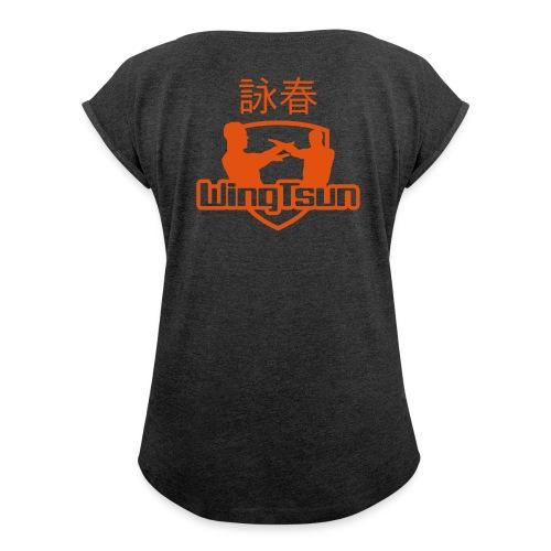 WingTsun Shirt - Frauen T-Shirt mit gerollten Ärmeln