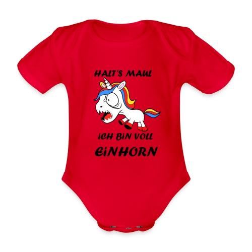 Voll Einhorn - Baby Bio-Kurzarm-Body