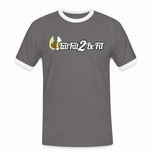 T-shirt Homme gris blanc grand logo avant - T-shirt contrasté Homme