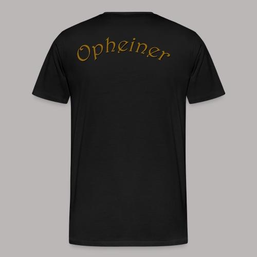 Shirt Logo Vorne Opheiner - Männer Premium T-Shirt