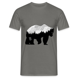 Geometric Mountain Bear - Grey - Maglietta da uomo