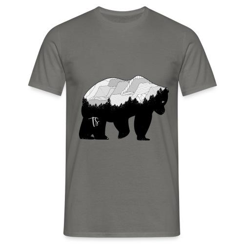 Geometric Mountain Bear - Grey - Maglietta da uomo