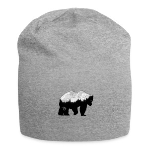 Geometric Mountain Bear - Beanie - Beanie in jersey
