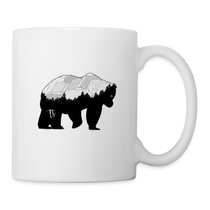 Geometric Mountain Bear - Cup - Tazza
