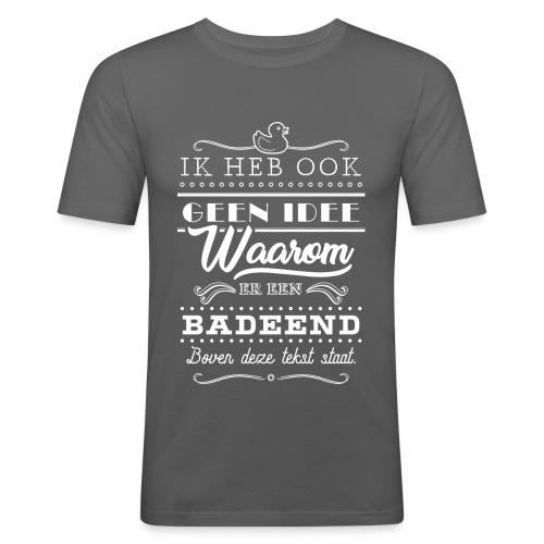 Badeend mannen slimfit - slim fit T-shirt