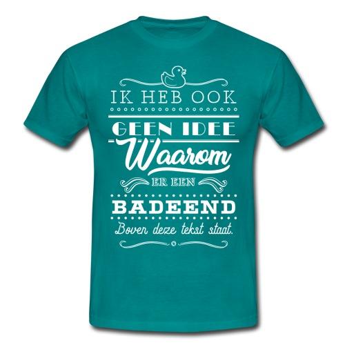 Badeend mannen t-shirt - Mannen T-shirt
