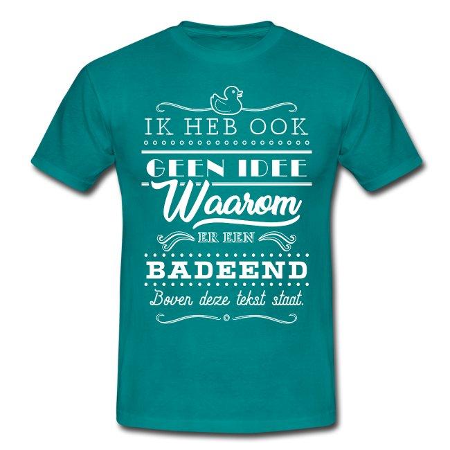 Badeend mannen t-shirt