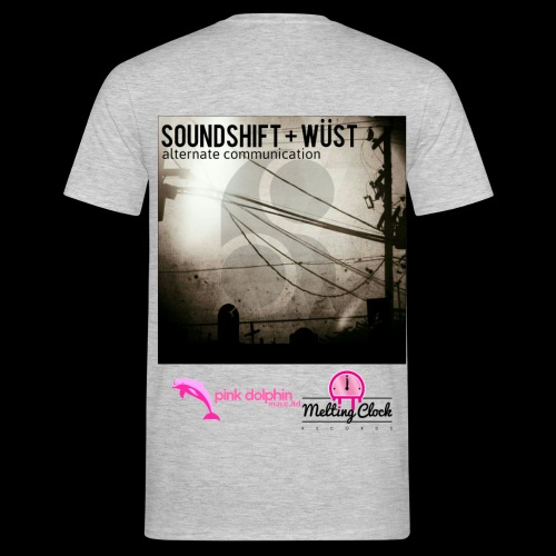 SOUNDSHIFT and WÜST - Alternate Communication back print t-shirt - Men's T-Shirt