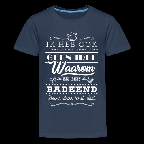 Badeend tienershirt - Teenager Premium T-shirt