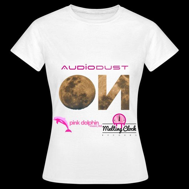 Audio Dust - On Lady's t-shirt