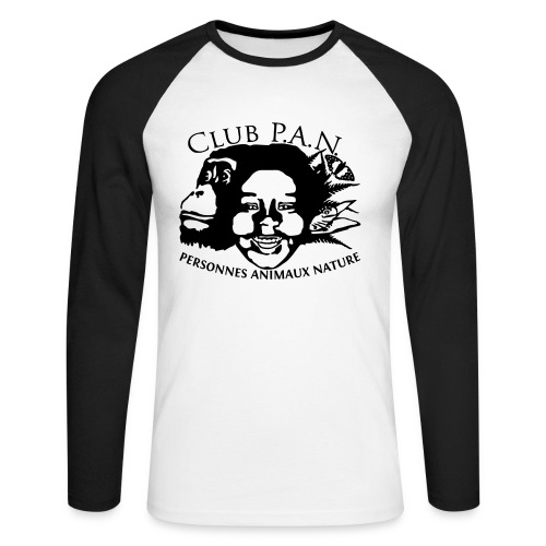 Club P.A.N. Men's Raglan Long Sleeve - Men's Long Sleeve Baseball T-Shirt