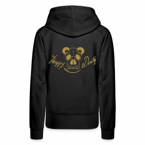 Happy death (verso pailleté or)  - Sweat-shirt à capuche Premium pour femmes