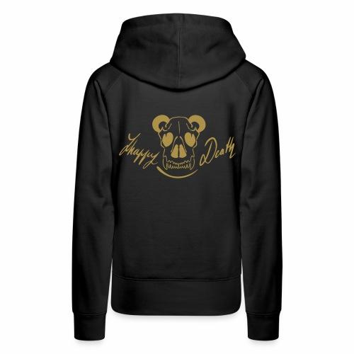 Happy death (verso pailleté or)  - Sweat-shirt à capuche Premium pour femmes