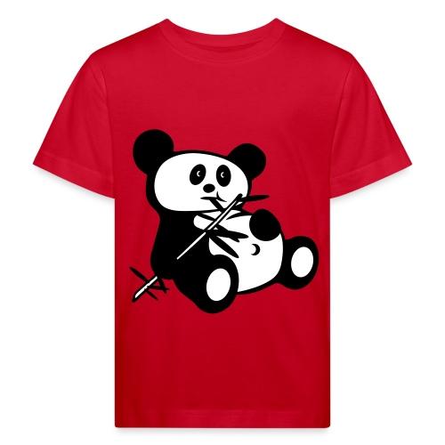Laiska Panda - Lasten luonnonmukainen t-paita