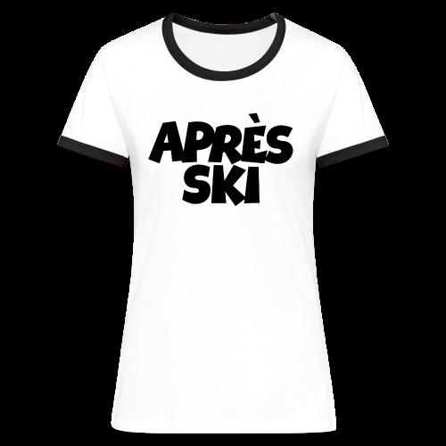 Après-Ski T-Shirt - Frauen Kontrast-T-Shirt