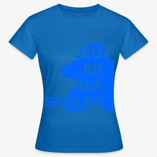 Jeg er blå spiller - T-skjorte for kvinner