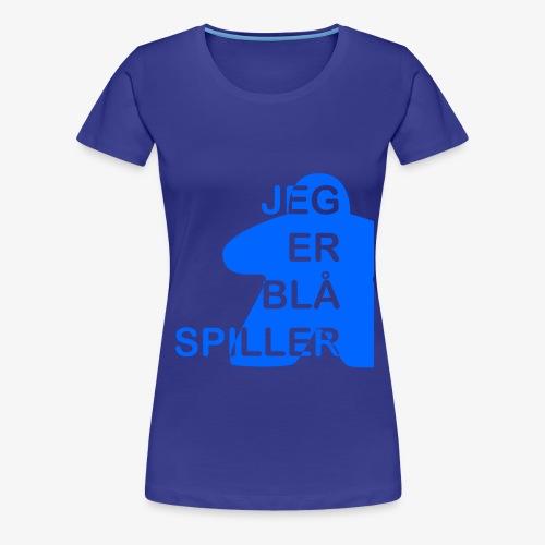 Jeg er blå spiller - Premium T-skjorte for kvinner