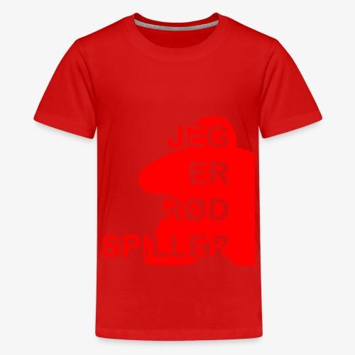 Jeg er rød spiller - Premium T-skjorte for tenåringer