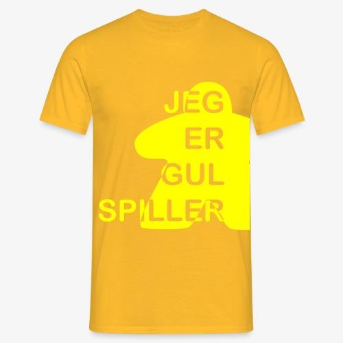 Jeg er gul spiller - T-skjorte for menn