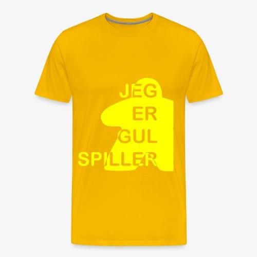 Jeg er gul spiller - Premium T-skjorte for menn