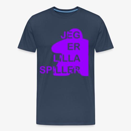 Jeg er lilla spiller - Premium T-skjorte for menn