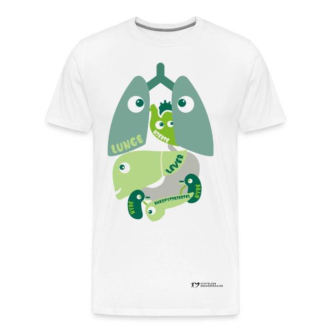 """""""Organene"""" t-skjorte – herre"""