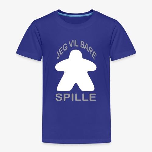 Jeg vil bare spill - Premium T-skjorte for barn