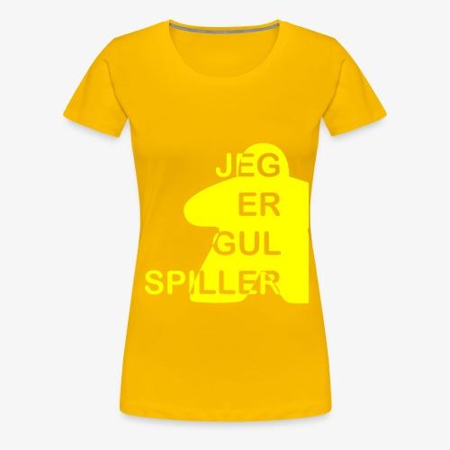Jeg er gul spiller - Premium T-skjorte for kvinner