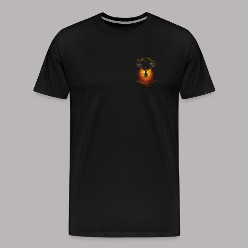 Shirt Logo Hinten 2 Malachias - Männer Premium T-Shirt