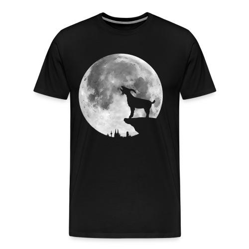 Männer Premium T-Shirt mit heulendem Geißbock - Männer Premium T-Shirt