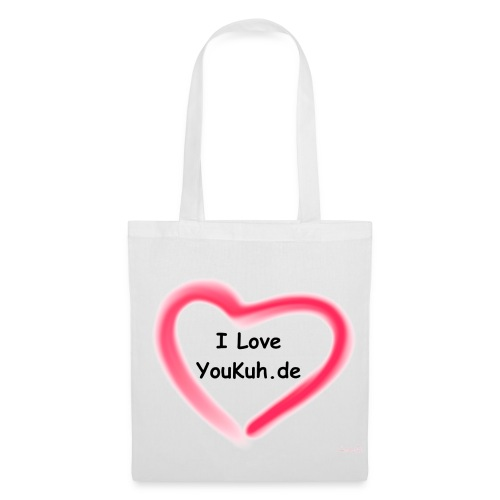 I Love YouKuh.de - Tasche Weis/Rot - Stoffbeutel