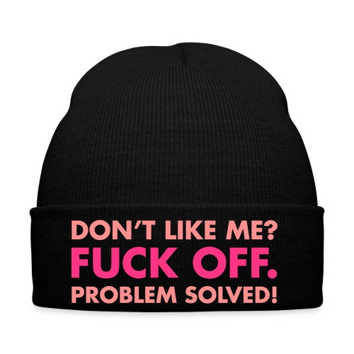 Dont Like Me? Fuck Off Red Beanie - Winter Hat