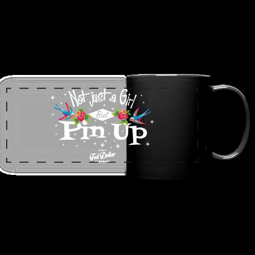 Not Just a Girl but Pin Up - Mug panoramique uni