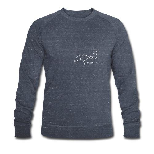 Mit Pferden sein Reiter,  Men Biosweater ( Print Digital White) - Männer Bio-Sweatshirt von Stanley & Stella