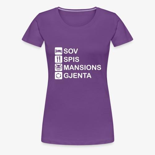 Sov, spis, Mansions of Madness og Gjenta - Premium T-skjorte for kvinner