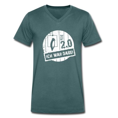 Vodena 2.0 Grün - Männer Bio-T-Shirt mit V-Ausschnitt von Stanley & Stella