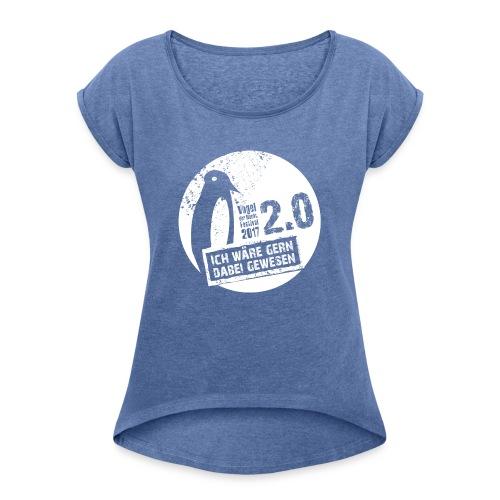 Vodena 2.0 Shirt Damen - Frauen T-Shirt mit gerollten Ärmeln