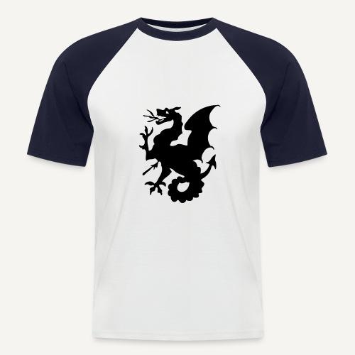 Żmij - smok z herbu księstwa Czerskiego - Koszulka bejsbolowa męska