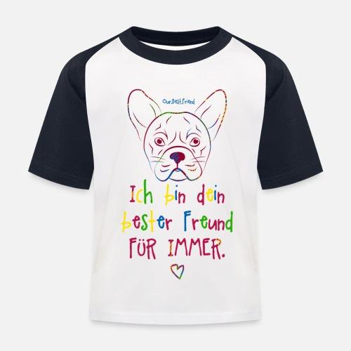 Bester Freund Frenchie - Kinder Baseball T-Shirt
