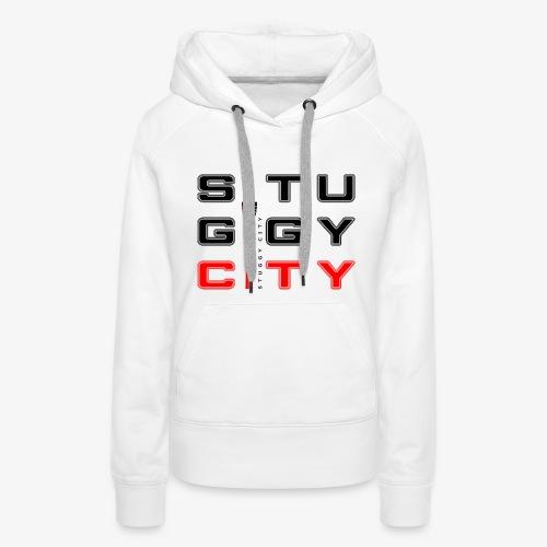 Stuggy City Hoody Lady Black/Red - Frauen Premium Hoodie