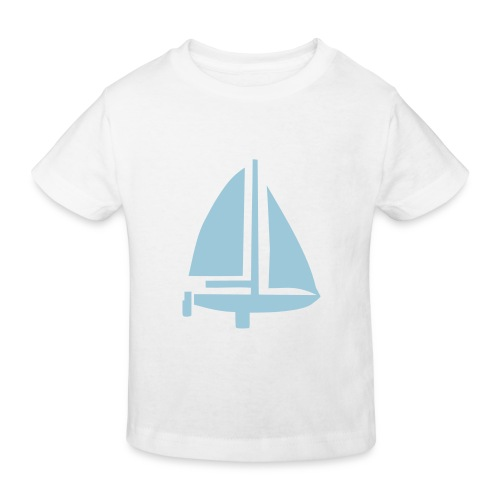 velero celeste - Camiseta ecológica niño