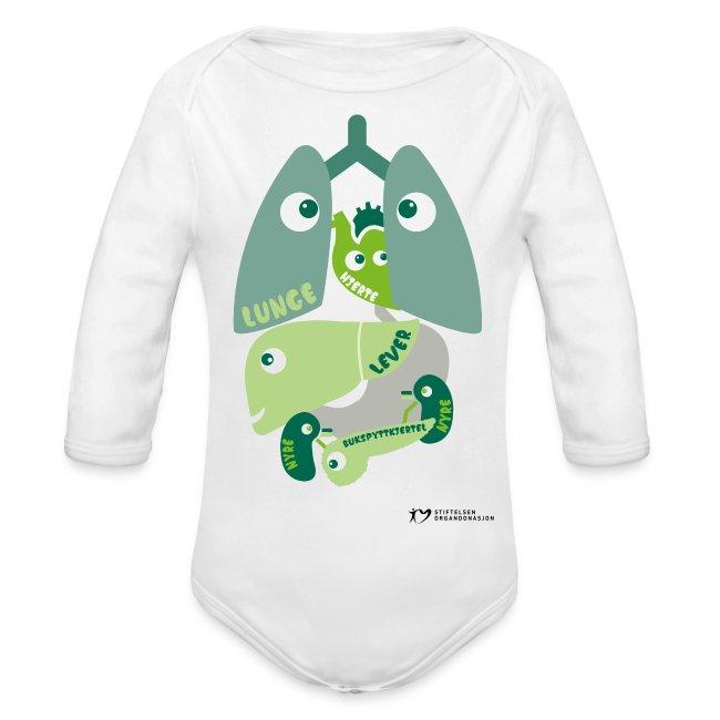 """""""Organene"""" økologisk baby-body"""