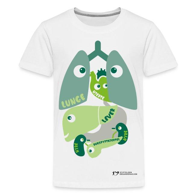 """""""Organene"""" t-skjorte – tenåringer"""