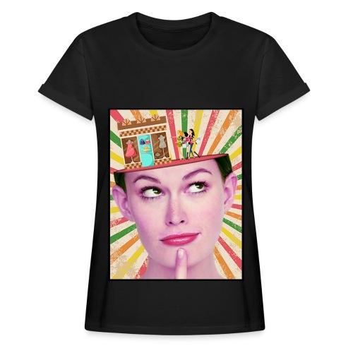 Maglietta shopping - Maglietta ampia da donna