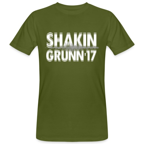 Heren shirt bio / voor & achter bedrukt / we'll shake hands in Grunn - Mannen Bio-T-shirt