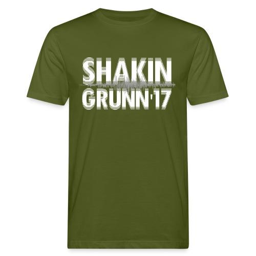 Heren shirt bio / voor & achter bedrukt / we'll shake hands in Grunn - Mannen Bio-T-shirt