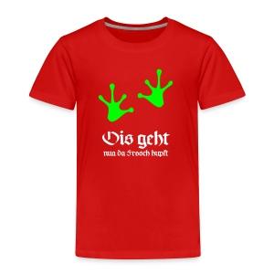 Ois geht nua da Frosch hupft T-Shirts - Kinder Premium T-Shirt
