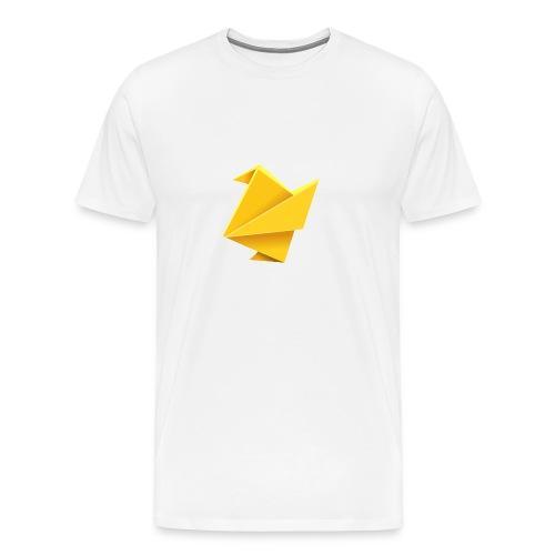 T-shirt short sleeve Yellow Origami Bird - Premium T-skjorte for menn