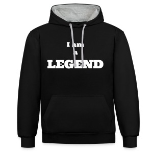 I am a Legend - Contrast Colour Hoodie