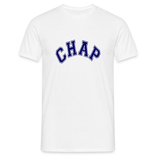 Adult 'CHAP' Logo  T (White) - Men's T-Shirt